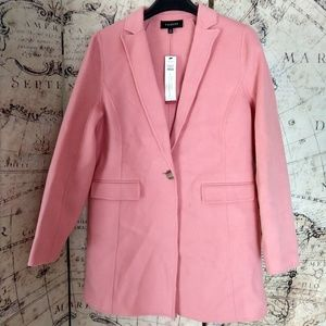 Double faced wool blend thigh length Blazer/Jacket